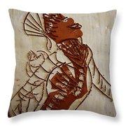 Mums Adrift - Tile Throw Pillow