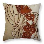 Mums Ahead - Tile Throw Pillow