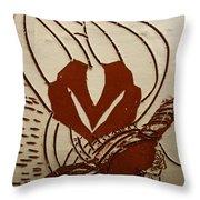 Mums Around - Tile Throw Pillow