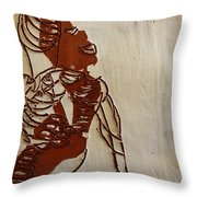 Mums Bliss - Tile Throw Pillow