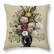 Mums Bouquet Throw Pillow