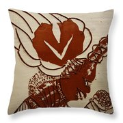 Mums Darling - Tile Throw Pillow