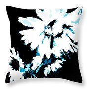 Mums In Abstract Throw Pillow