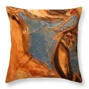 Mums Leap - Tile Throw Pillow