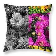 Mums The Word Throw Pillow
