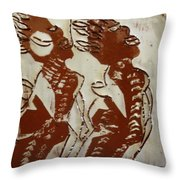 Mums Union - Tile Throw Pillow