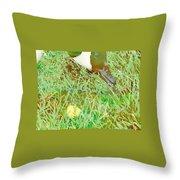 Munching On Green Grass Throw Pillow