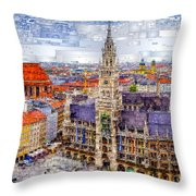 Munich Cityscape Throw Pillow
