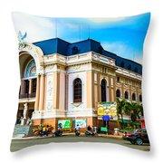 Municipal Theater Ho Chi Minh City Vietnam Throw Pillow