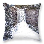 Munising Fall Michigan Throw Pillow