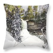 Munising Fall Upper Michigan Throw Pillow