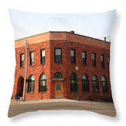 Munising Michigan City Hall Throw Pillow