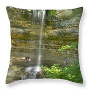 Munising Waterfall Throw Pillow