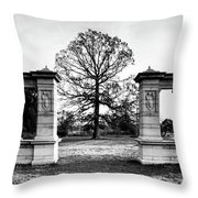Muny Columns 2 Throw Pillow