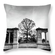 Muny Columns Throw Pillow