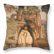Mural Church Art Throw Pillow