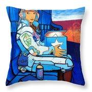 Mural Art, Futuristic  Throw Pillow