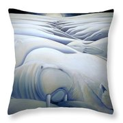 Mural  Winters Embracing Crevice Throw Pillow