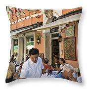 Murano Cafe Throw Pillow