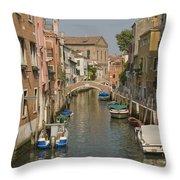 Murano Canal 4329 Throw Pillow