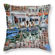 Murano Canal Throw Pillow