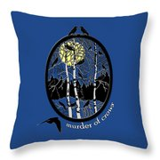 Murder Of Crows Throw Pillow