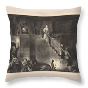 Murder Of Edith Cavell, First State By George Bellows 1882-1925 Throw Pillow