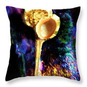 Murex Haustellum Seashell Throw Pillow