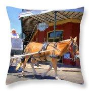 Muriel's Mule Throw Pillow