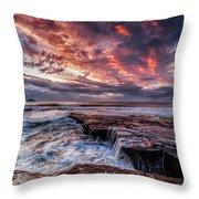 Muriwai Sunset Throw Pillow