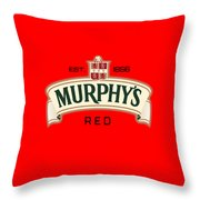 Murphys Irish Red Throw Pillow