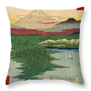 Musashi Noge Yokohama - Noge Yokohama In Musashi Province Throw Pillow