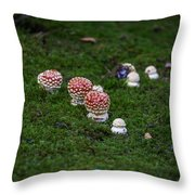Muscaria Migration Throw Pillow