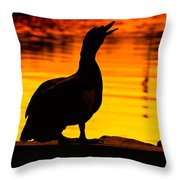Muscovy Sunset Throw Pillow