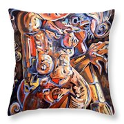 Muse In The Dark Throw Pillow