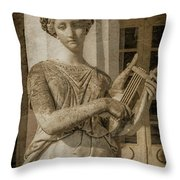 Achilleion, Corfu, Greece - The Muse Terpsichore Throw Pillow