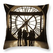 Musee D'orsay Clock Throw Pillow