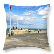 Musee Du Debarquement D Day Museum Throw Pillow