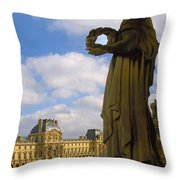 Musee Du Louvre Throw Pillow