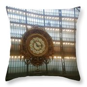 Museum D'orsay Clock Throw Pillow
