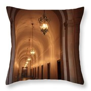 Museum Hallway Throw Pillow