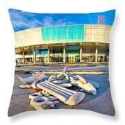 Museum Of Contemporary Art In Zagreb Throw Pillow