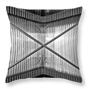 Museum Of Contemporary Art In Zagreb Detail Throw Pillow