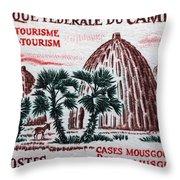 Musgum Houses Throw Pillow
