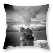 Mushroom Cloud Over Nagasaki  Throw Pillow