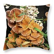 Mushroom Corsage Throw Pillow