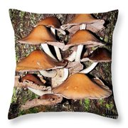 Mushroom Coven Throw Pillow