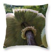 Mushroom Down Under  Throw Pillow
