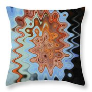 Mushroom In The Woods Abstract Throw Pillow