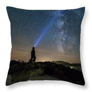 Mushroom Rocks Phenomenon Under The Night Sky Throw Pillow